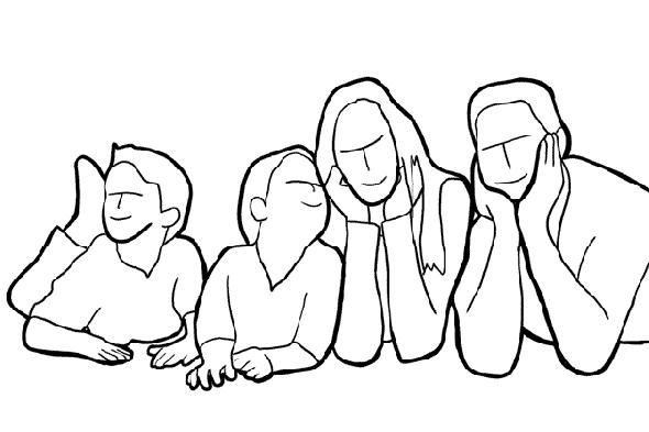 Теплая семейная фотография