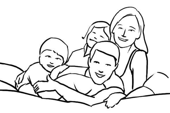 Отличное решение  для семейной фотосессии