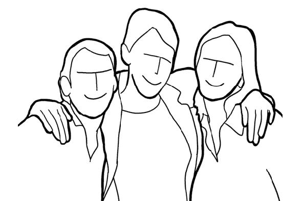 Для фото троих-четверых друзей